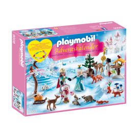 PLAYMOBIL - CHRISTMAS - KALENDARZ ADWENTOWY - LODOWA KSIĘŻNICZKA W ZAMKOWYM PARKU - 9008