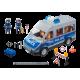 PLAYMOBIL - CITY ACTION - SAMOCHÓD POLICYJNY Z BLOKADĄ DROGOWĄ - ŚWIATŁO DŹWIĘK - 9236