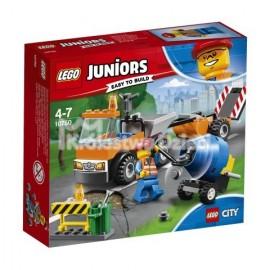 LEGO® - JUNIORS - SAMOCHÓD ROBÓT DROGOWYCH - 10750