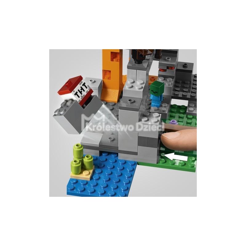 88f2e861f LEGO® - MINECRAFT™ - JASKINIA ZOMBIE - 21141 - Królestwo Dzieci