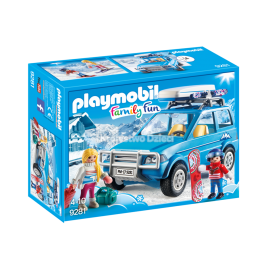 PLAYMOBIL - FAMILY FUN - AUTO Z BOXEM DACHOWYM - 9281