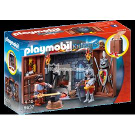 PLAYMOBIL - KNIGHTS - PLAY BOX - KUŹNIA RYCERSKA - 5637