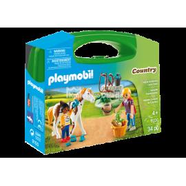 PLAYMOBIL - COUNTRY - SKRZYNECZKA - PIELĘGNACJA KONI - 9100