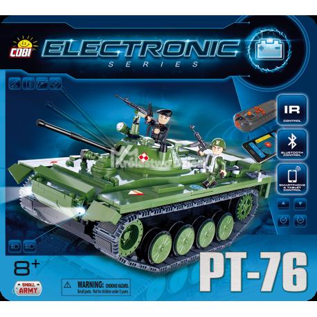 COBI - ELECTRONIC - MAŁA ARMIA - CZOŁG PT-76 [ IR / Bluetooth ] - 21906