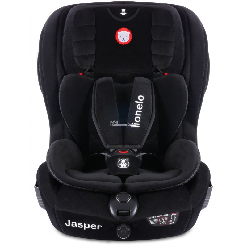 lionelo fotelik samochodowy jasper 9 36 kg isofix czarny zamsz 52997 2 gratisy. Black Bedroom Furniture Sets. Home Design Ideas
