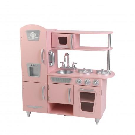 Kidkraft Drewniana Różowa Kuchnia Vintage 53179
