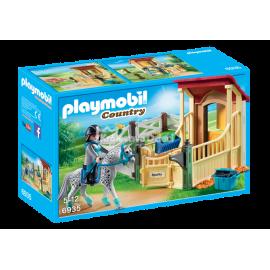 PLAYMOBIL - COUNTRY - BOKS STAJENNY - APPALOOSA - 6935
