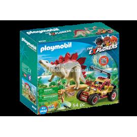 PLAYMOBIL - THE EXPLORER - POJAZD BADAWCZY ZE STEGOZAUREM - 9432
