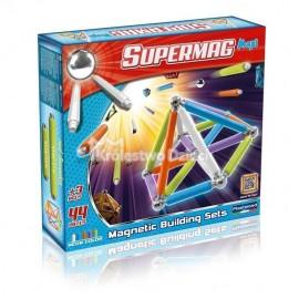 PLASTWOOD - SUPERMAG - KLOCKI MAGNETYCZNE - MAXI NEON - 44 EL. - 0115