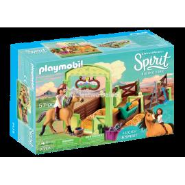 PLAYMOBIL - SPIRIT RIDING FREE - BOKS STAJENNY - LUCKY I SPIRIT - 9478