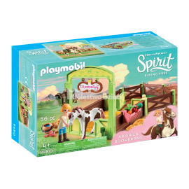 PLAYMOBIL - SPIRIT RIDING FREE - BOKS STAJENNY - ABIGAIL I KONIK BUMERANG - 9480