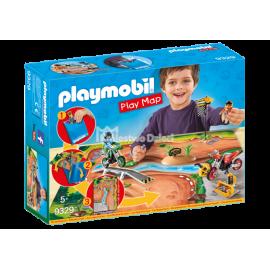 PLAYMOBIL - ACTION - PLAY MAP - ZESTAW Z MATĄ DO ZABAWY - 9329