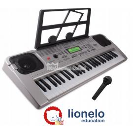 LIONELO - KEYBOARD - ORGANY - JESS - MIKROFON - STOJAK NA NUTY - USB - MP3 - EKRAN LCD - 53581