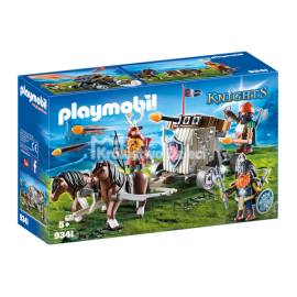 PLAYMOBIL - KNIGHTS - ZAPRZĘG KUCYKÓW Z BALISTĄ KRASNOLUDÓW - 9341