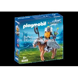 PLAYMOBIL - KNIGHTS - KRASNOLUD Z WOJOWNICZYM KUCYKIEM - 9345