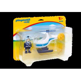 PLAYMOBIL - 123 - HELIKOPTER POLICYJNY - 9383