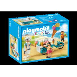 PLAYMOBIL - FAMILY FUN - ROWER Z WÓZKIEM Z LODAMI - 9426