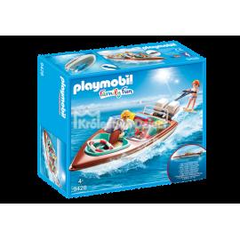PLAYMOBIL - FAMILY FUN - MOTORÓWKA Z SILNIKIEM PODWODNYM - 9428