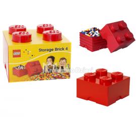 LEGO® - POJEMNIK NA KLOCKI ZABAWKI I INNE - KLOCEK 4 WYPUSTKI - CZERWONY - 4003