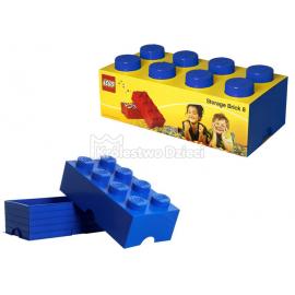 LEGO® - POJEMNIK NA KLOCKI ZABAWKI I INNE - KLOCEK 8 WYPUSTEK - NIEBIESKI - 4004