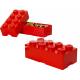 LEGO® - POJEMNIK NA KLOCKI ZABAWKI I INNE - KLOCEK 8 WYPUSTEK - CZERWONY - 4004
