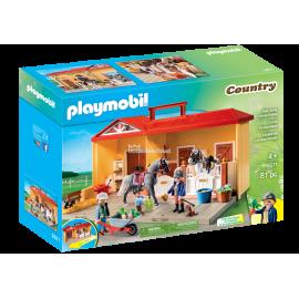 PLAYMOBIL - COUNTRY - NOWA PRZENOŚNA STAJNIA - 5671