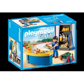 PLAYMOBIL - CITY LIFE - WOŹNY W SKLEPIKU - 9457
