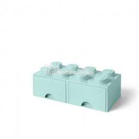 LEGO® - POJEMNIK NA KLOCKI ZABAWKI I INNE - KLOCEK 8 WYPUSTEK I 2 SZUFLADKI - MORSKI- 4006