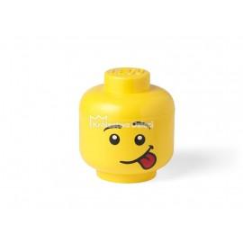 LEGO® - POJEMNIK NA KLOCKI ZABAWKI I INNE - DUŻA GŁOWA - GŁUPTAS