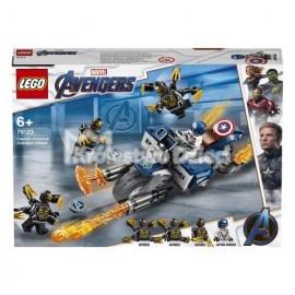 LEGO® - MARVEL AVENGERS - KAPITAN AMERYKA - ATAK OUTRIDERÓW - 76123