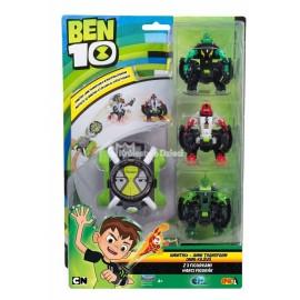EPEE - BEN 10 - OMNITRIX - OMNI TRANSFORM + 3 FIGURKI - 767454B