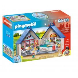 PLAYMOBIL - CITY LIFE - PRZENOŚNY IMBIS BAR - 70111