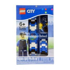 LEGO® - CITY - ZEGAREK NA RĘKĘ - POLICJA + FIGURKA - 8020028