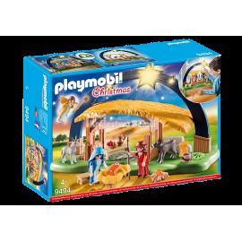 PLAYMOBIL - CHRISTMAS - STAJENKA Z OŚWIETLENIEM - 9494