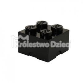 LEGO® - POJEMNIK NA KLOCKI ZABAWKI I INNE - KLOCEK 4 WYPUSTKI - CZARNY- 4003