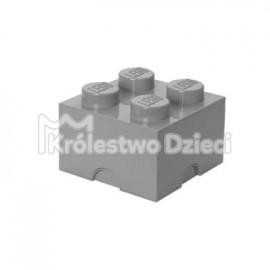 LEGO® - POJEMNIK NA KLOCKI ZABAWKI I INNE - KLOCEK 4 WYPUSTKI - SZARY - 4003