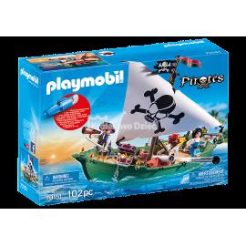 PLAYMOBIL  - PIRATES - STATEK PIRACKI Z SILNIKIEM PODWODNYM - 70151