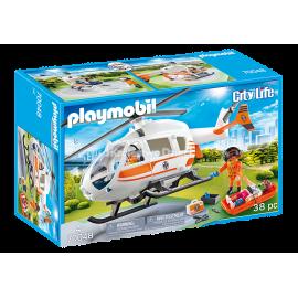 PLAYMOBIL - CITY LIFE - HELIKOPTER RATOWNICZY - 70048