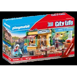 PLAYMOBIL - CITY LIFE - PIZZERIA Z OGRÓDKIEM RESTAURACYJNYM - 70336