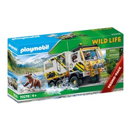 PLAYMOBIL - WILD LIFE - POJAZD NA WYPRAWY BADAWCZE - 70278