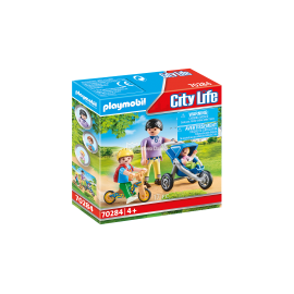 PLAYMOBIL - CITY LIFE - MAMA Z DZIEĆMI - 70284