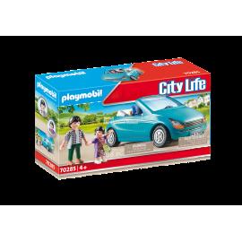 PLAYMOBIL - CITY LIFE - TATO I DZIECKO W KABRIOLECIE - 70285