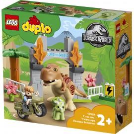 LEGO® - DUPLO® - JURASSIC WORLD™ - UCIECZKA TYRANOZAURA I TRICERATOPSA - 10939