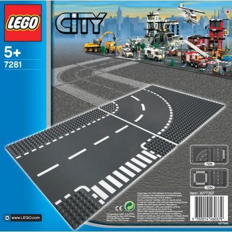 LEGO - CITY - DROGI - SKRZYŻOWANIE i ZAKRĘT - 7281
