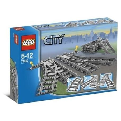 LEGO - CITY - ZWROTNICE KOLEJOWE i TORY ŁUKI - 7895